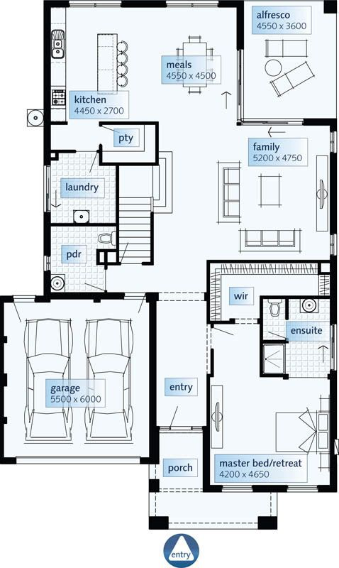 floor plans double storey house plans home designs custom home design - Two Storey House Plans