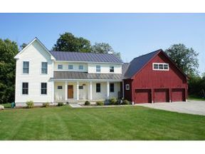 white farmhouse, red barn garage @Christina & Beach - this is what I want.