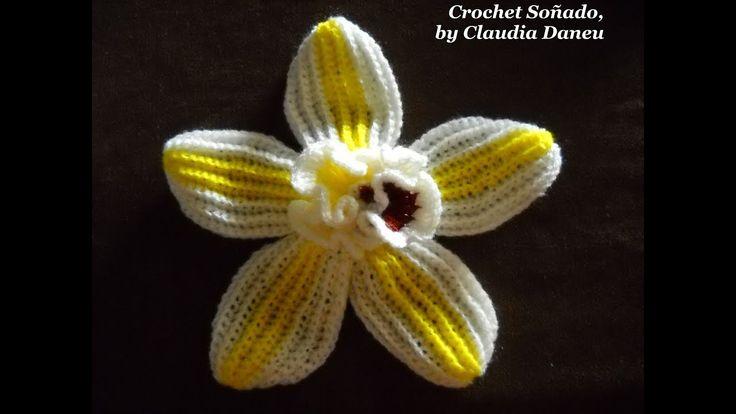 VANILLA CROCHET FLOWER / LA FLOR DE LA VAINILLA CROCHET