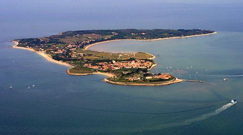 Vue aérienne de l'île d'Aix