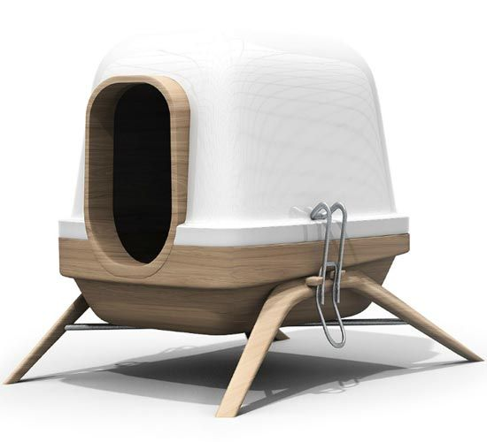 Not sure if this is supposed to be a litter box.  If it is, it's the coolest one EVER and I probably wouldn't let the cats near it.