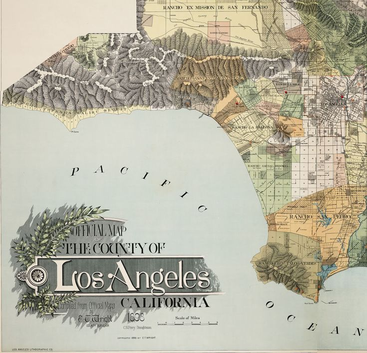 Best Vintage Maps Of CA Images On Pinterest Vintage Maps - Map of the us labeled los angeles