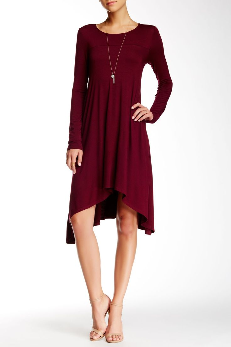 Red jersey knit dress
