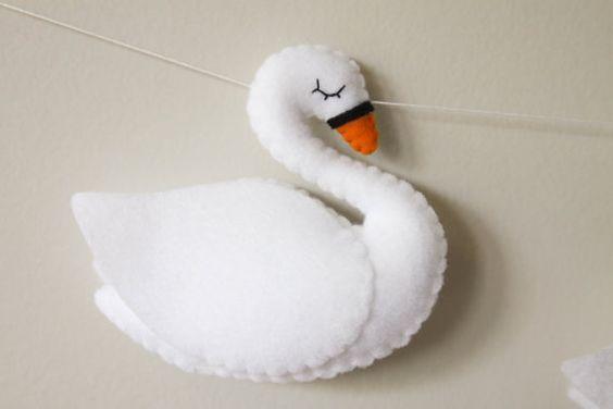 Cisne com molde