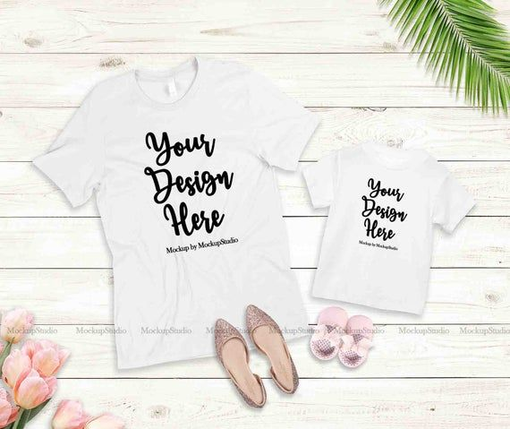 Download Mother Daughter White T Shirts Mockup Mommy Toddler Shirt Etsy Design Mockup Free Tshirt Mockup Free Packaging Mockup