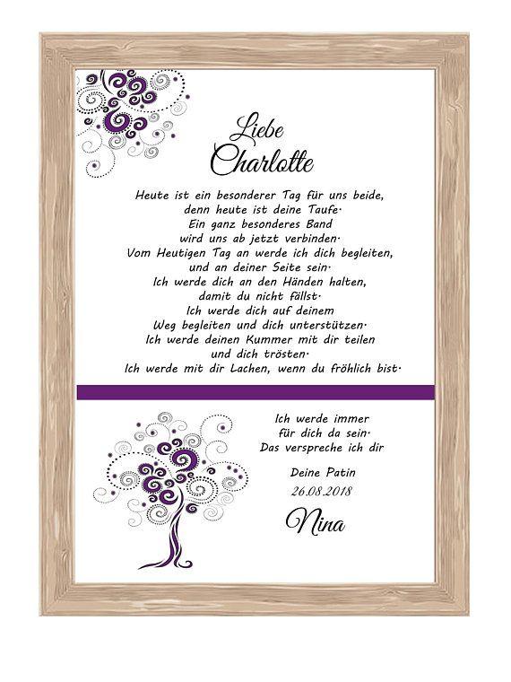 Patent letter Taufbrief Gift 34 – Birgit Ch