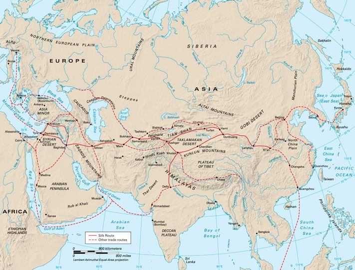 """The Lost Empire that Ruled the Silk Road Today, the city of Samarkand in Uzbekistan is relatively remote, known mostly for its magnificent medieval ruins. But over a millennium ago, it was one of the richest cities on the infamous trade route known as the Silk Road. Back in the 600s CE, that route was called simply """"the road to Samarkand."""""""