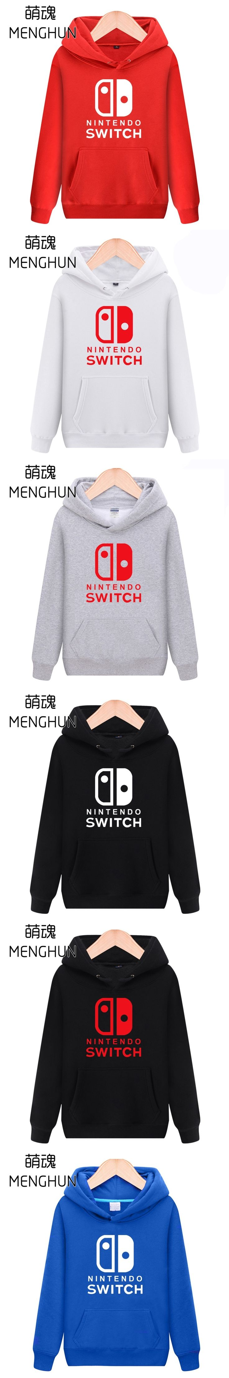 new game console Switch concept men's hoodies gift for game fans warm Spring Winter costume Switch hoodies ac695