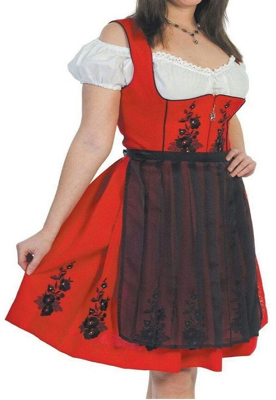 Women Traditional Dirndl Dress Oktoberfest Beer Costume Bavarian Outfit with best price offer