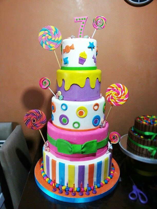 Candyland Themed Cake The Dough Puncher Pinterest Themed Cakes Cakes And Candyland