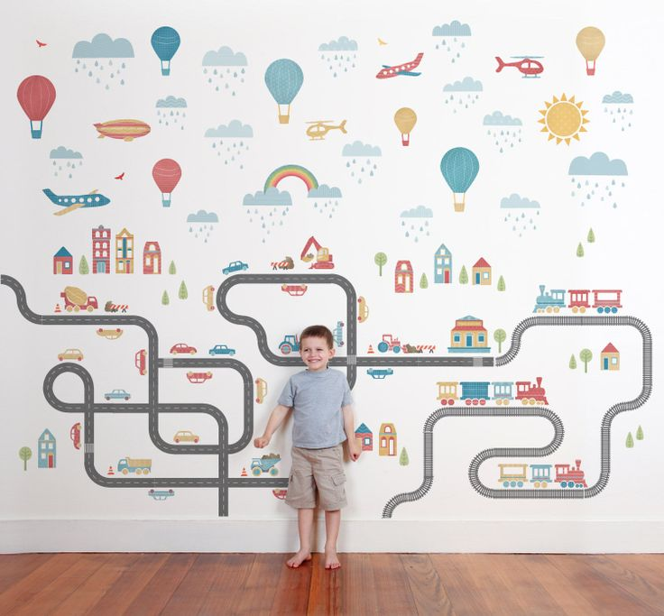 Mini Metropolis - Classic Wall Stickers - Wall Stickers - Wall Decor ~ tinyme.com