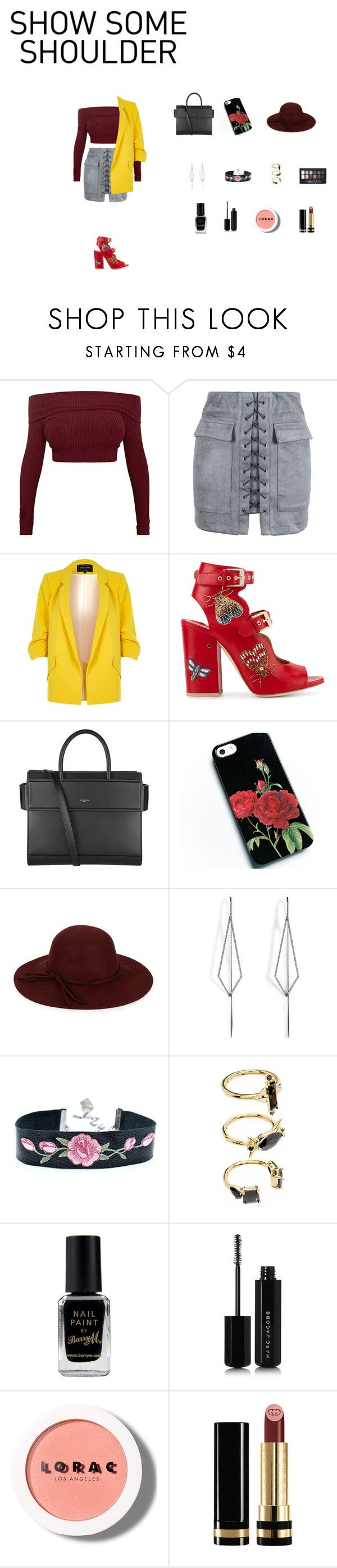 """""""mimi"""" by yesica-rey on Polyvore featuring moda, River Island, Laurence Dacade, Givenchy, COLLECTION 18, Diane Kordas, Noir Jewelry, Maybelline, Barry M y Marc Jacobs"""