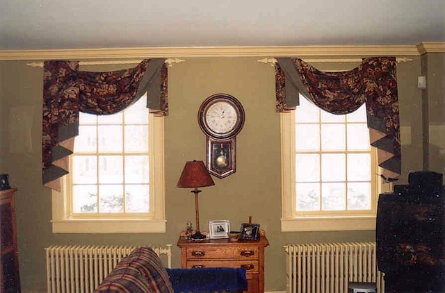 Asymmetrical Swag Valances And Curtains Pinterest