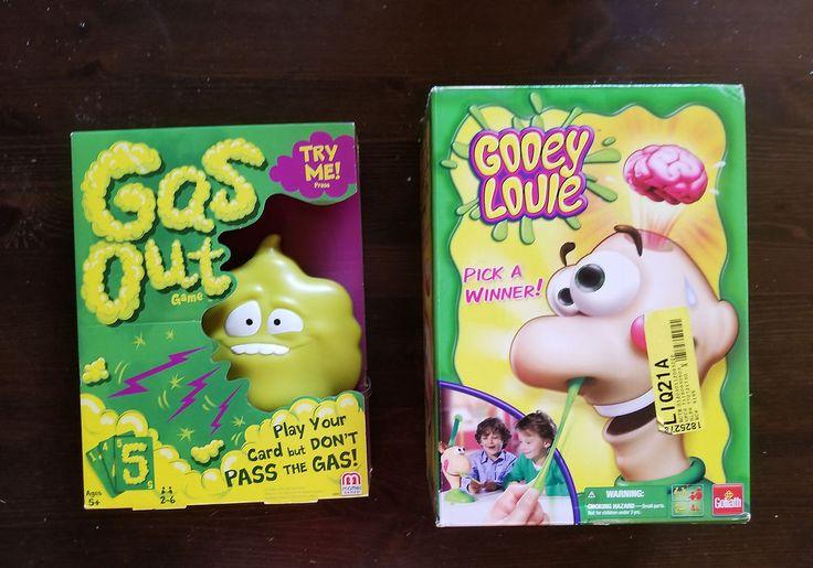 GROSS GAME LOT Gooey Louie & GAS OUT SNOT BOOGERS FART GAMES #Mattel