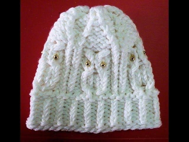 Como Tear Tricotar um Chapéu de Coruja