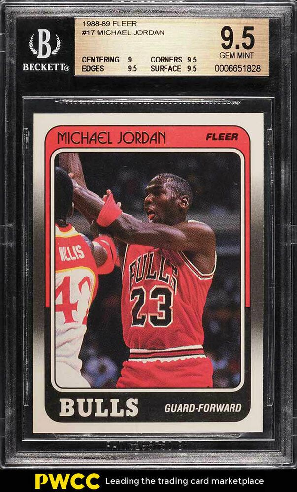 buy online 22085 98d3b 1988 Fleer Basketball Michael Jordan  17 BGS 9.5 GEM MINT (PWCC)