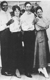 Legend of New Orleans Jazz,  Jelly Roll Morton (2nd from right), with Bricktop (right) in Los Angeles in 1918