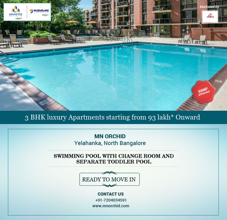 MN Orchid Premium #ready2move Apartment project in Yelahanka. Spread over across an area of 46,000 square feet with gorgeously landscaped gardens, luxury amenities & 24/7 Security  For site visit: Call Us 720.403.4591 Visit Online www.mnorchid.com