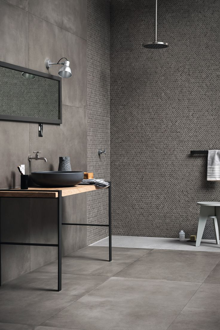 Amazing Wand und Bodenbelag aus Ganzk rper Feinsteinzeug mit Beton Effekt POWDER by MARAZZI Design Marazzi