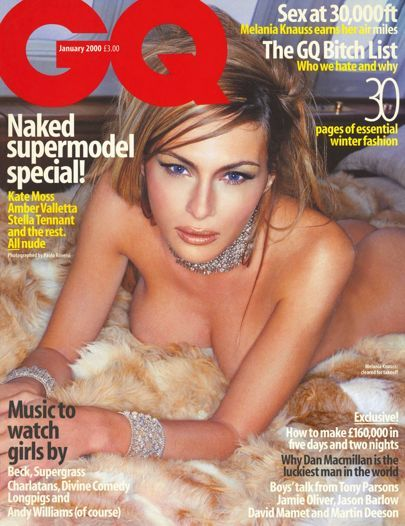 More than 15 years ago we profiled Donald Trump's then-girlfriend Melania Knauss. Now his wife, our naked shoot featured her on his customised Boeing 727.