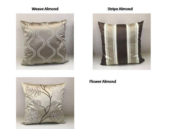 Decorative Throw Pillow Covers, Flower Pillow Cover, Stripe Pillow Cover, Weave Pillow Cover, Satin Pillow Cover, Embroidery Pillow Cases