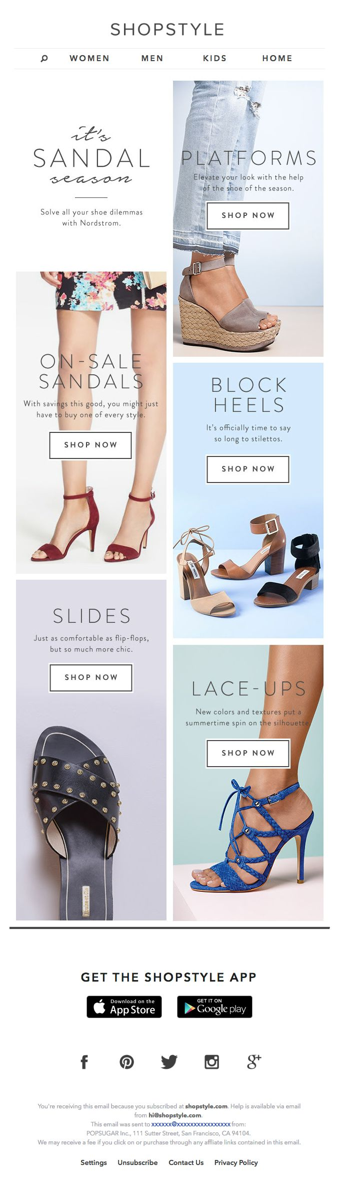 newsletter | fashion email | fashion design | email | email marketing | email inspiration | e-mail