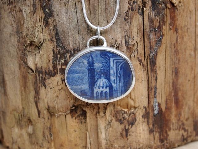 Ceramic Shard Sterling Silver Pendant  £50.00