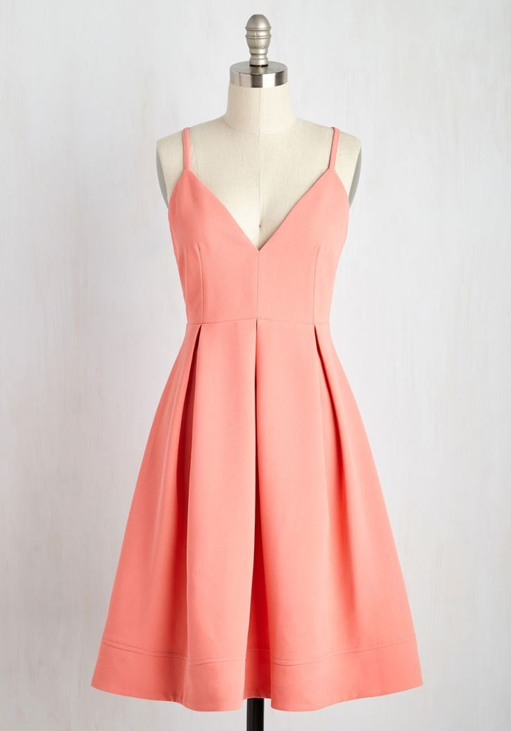 Happy as a Clambake Dress. Enjoying oysters al fresco in this cute pink dress, you cant help but remark on what a picnic perfect ensemble it is! #coral #modcloth