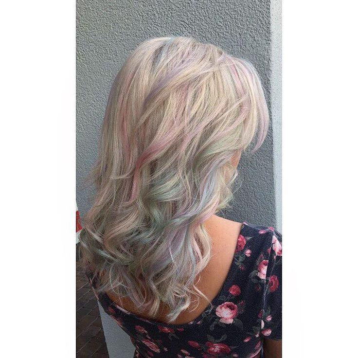 Unicorn opal hair colors by Pravana pastels