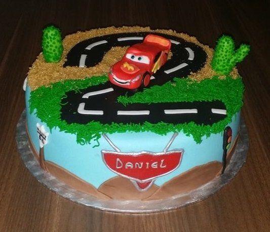 Birthdaycake Cars, boy, Lightning mc Queen verjaardagstaart jongen, Cars, Bliksem mc Queen