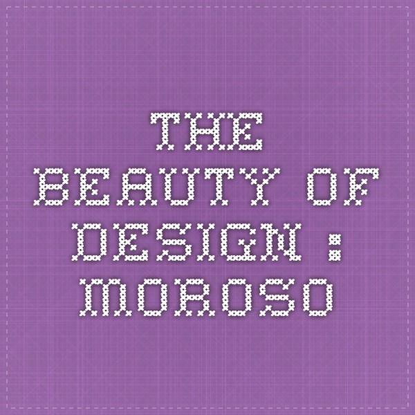 The beauty of design : Moroso