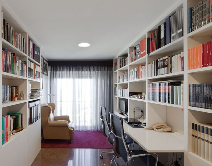 Cool Built In Office Bookshelves