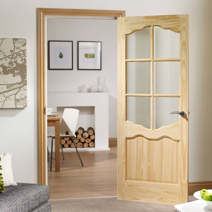 Riviera 6 Pane Clear Pine Door   Clear Safety Glass, A Traditional Style Of  Door