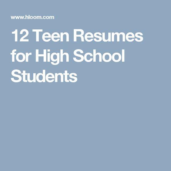 best 20  high school resume template ideas on pinterest