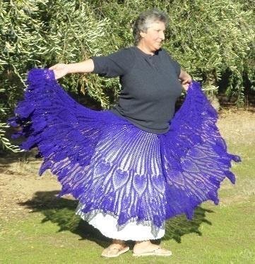 Butterfly Hippie Skirt by Kristi