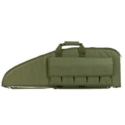 Scoped Rifle Gun Case Soft Padded Bag 38x13 inch CVG2907-38 GREEN M4 AK47 AR 15