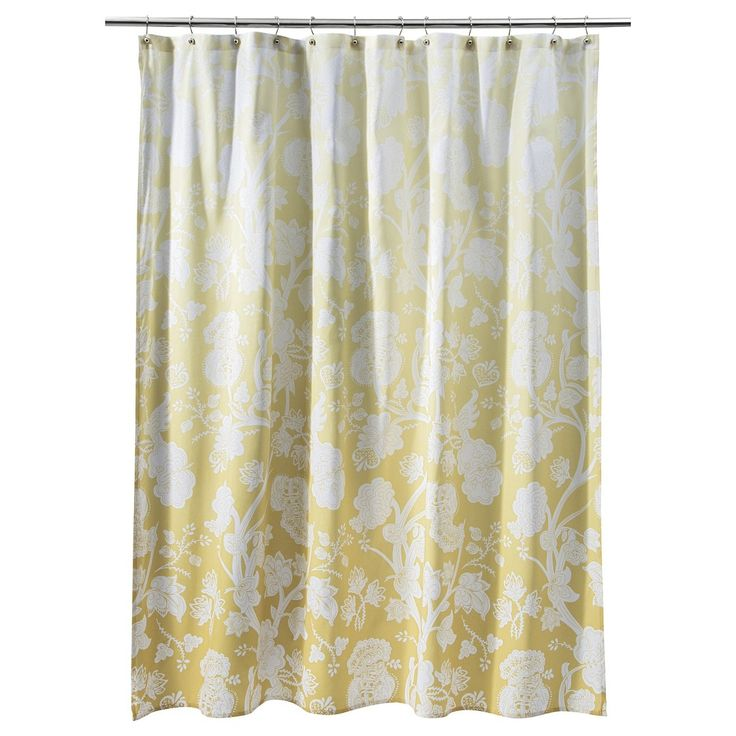 Threshold Ombre Floral Shower Curtain Yellow Want This