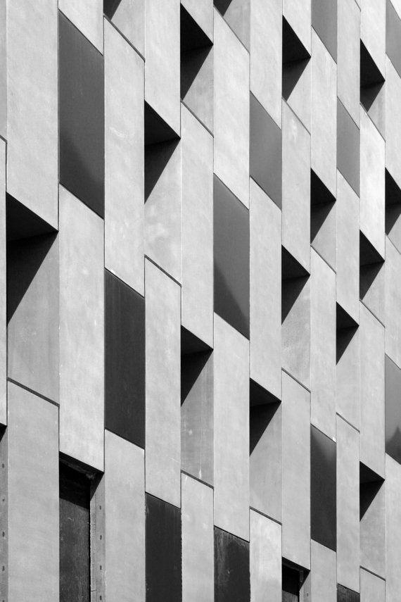"Architecture photograph, 8""x12"" - Abstract, Shoreditch, London, Concrete, Modernist, Urban, City, Adjaye building, Hoxton, Minimalist"