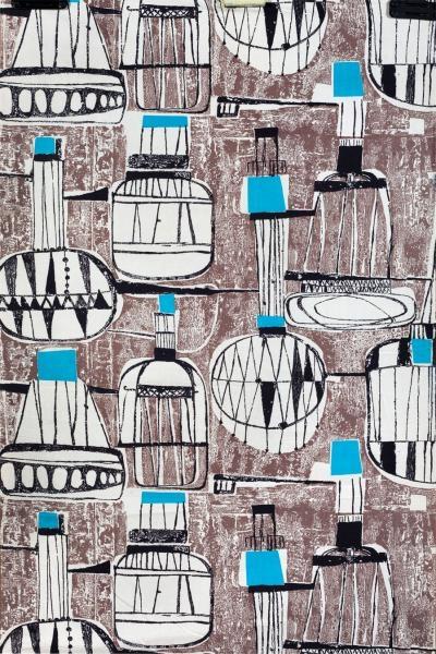 """Danuta Paprowicz - Michno, tkanina """"Balony"""", 1964"""