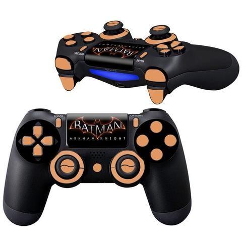 Batman AK ps4 Controller skin Full Buttons kit - Decal Design