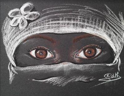 Les dessins d 39 edith dessin sur fond noir pinterest - Dessin fond noir ...