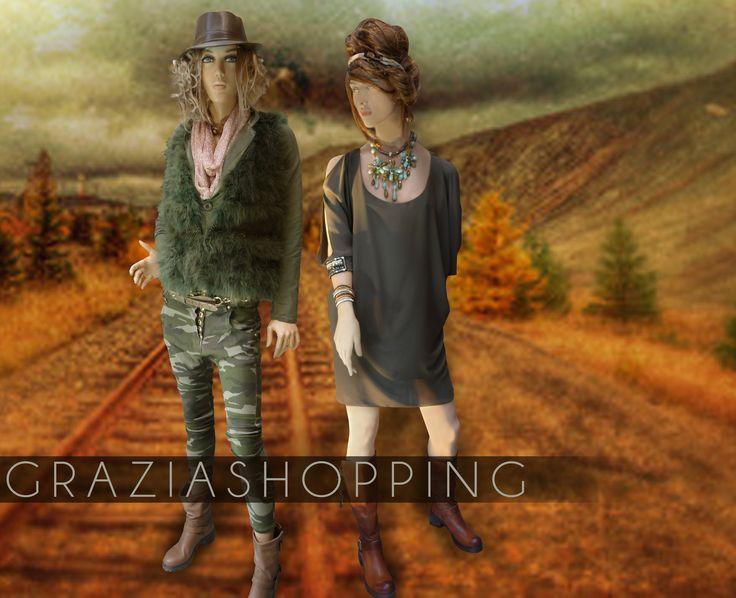 Look kaki - plutôt robe ou plutôt baggy ?! #graziashopping #lyon #camouflage #imprime #militaire #dress #soirée #shopping #boutique