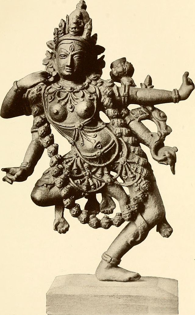 Kali replaced the Vedic king of the gods as a successful demonslayer. hinduism