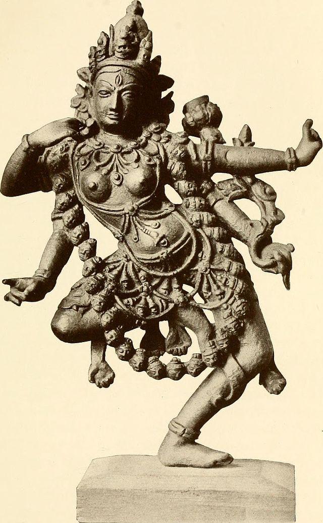 Kali sculpture from Calcutta Art Gallery.