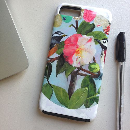 Love Birds Phone Cover at Society 6 by Daniela Glassop • DGD Creative
