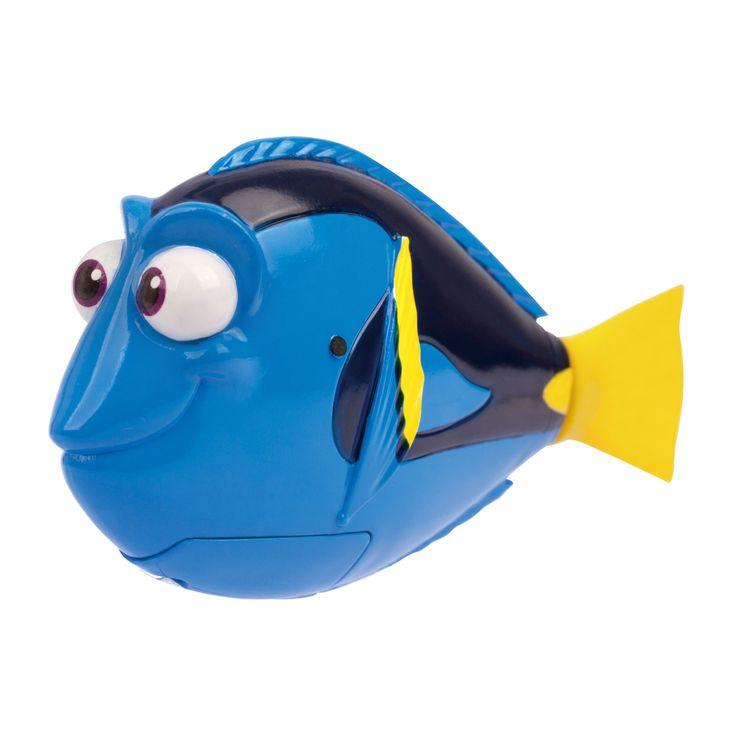 Beleef een onderwateravontuur met Disney's Dory en zie hoe ze in het water vanzelf tot leven komt. Speel het avontuur van de film Finding Dory na of verzin je eigen spannende avontuur. Dory kan alle kanten op duiken en zwemmen. Inclusief batterijen. Afmeting: verpakking 15 x 10 x 7,5 cm, lengte Robo Dory 9,5 cm - Finding Dory - Robo Dory