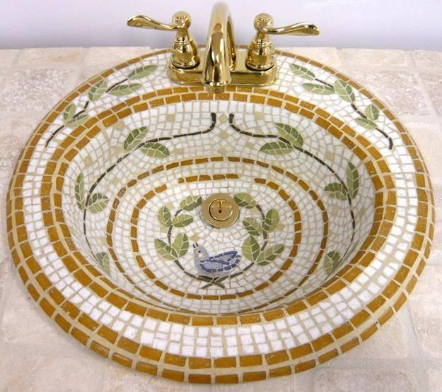 Beautiful Mosaic Tile Sink                                                                                                                                                                                 More