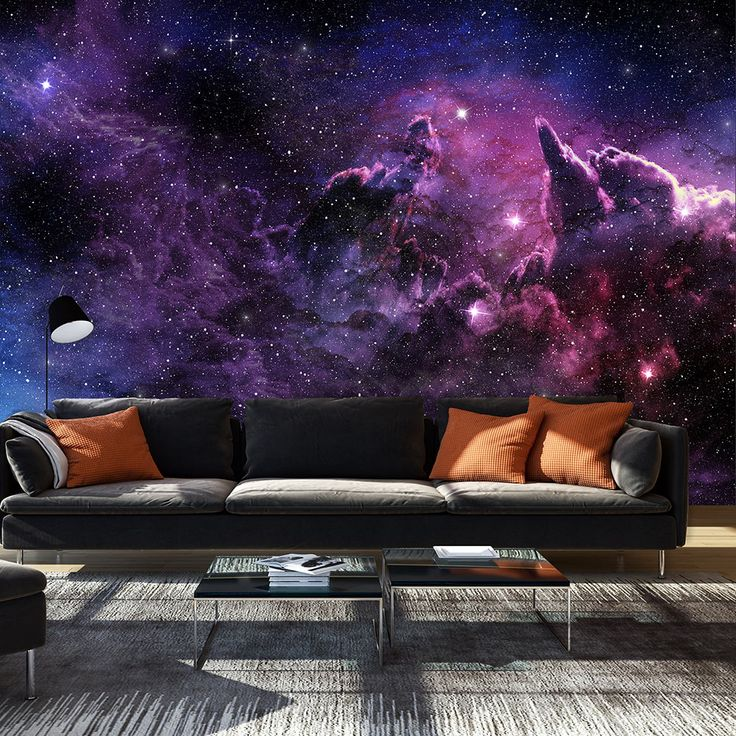 Create home decor which is literally out of this universe! Try wallpaper pattern with beautiful purple nebula
