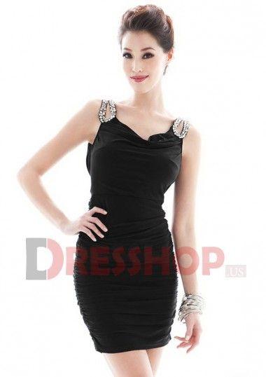 Sheath Chiffon Sweetheart Sleeveless Cute Homecoming Dresses