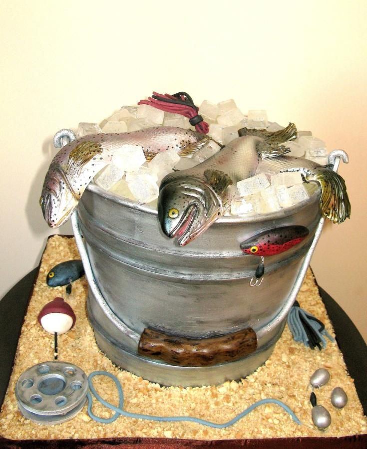 Fish bucket cake by Ral